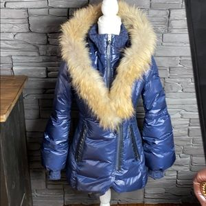Mackage Blue Peaches Fur Jacket Small